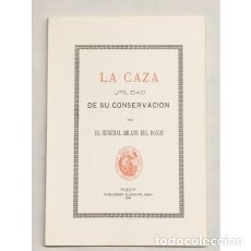 Libros: MILANS DEL BOSCH. LA CAZA. UTILIDAD DE SU CONSERVACIÓN - FACSÍMIL Nº2 - CAZA. Lote 117279179