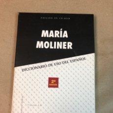 Libros: MARÍA MOLINER, DICCIONARIO DE USO DEL ESPAÑOL EDICIÓN EN CD - ROM. EDITORIAL GREDOS.. Lote 224209651