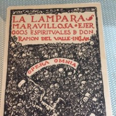 Libros: LA LÁMPARA MARAVILLOSA - EJERCICIOS ESPIRITUALES - OPERA OMNIA - VOL I - VALLE INCLÁN 1942 INTONSO. Lote 117831936