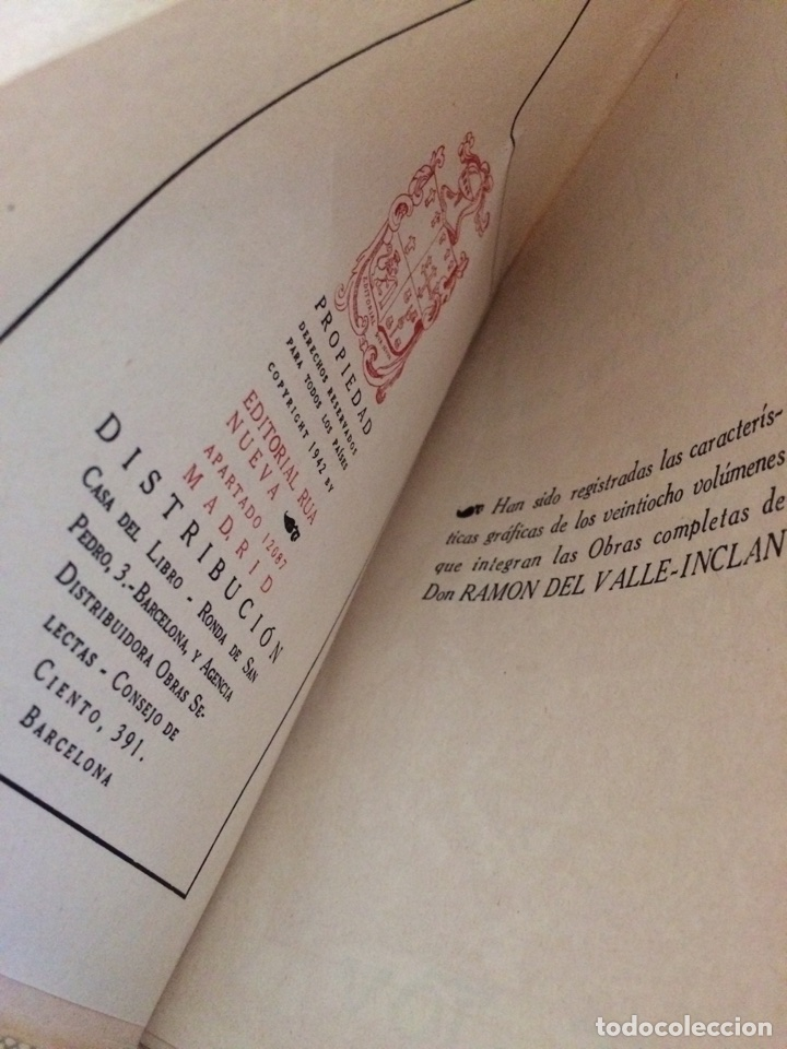 Libros: La lámpara maravillosa - Ejercicios espirituales - Opera Omnia - Vol I - Valle Inclán 1942 Intonso - Foto 2 - 117831936