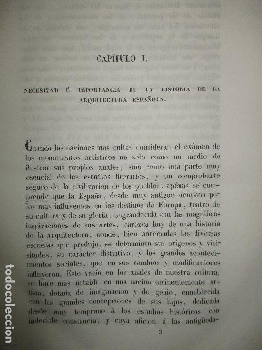 Libros: ENSAYO HISTÓRICO SOBRE LOS DIVERSOS GÉNEROS DE ARQUITECTURA empleados en España desde la dominacion - Foto 4 - 118132615