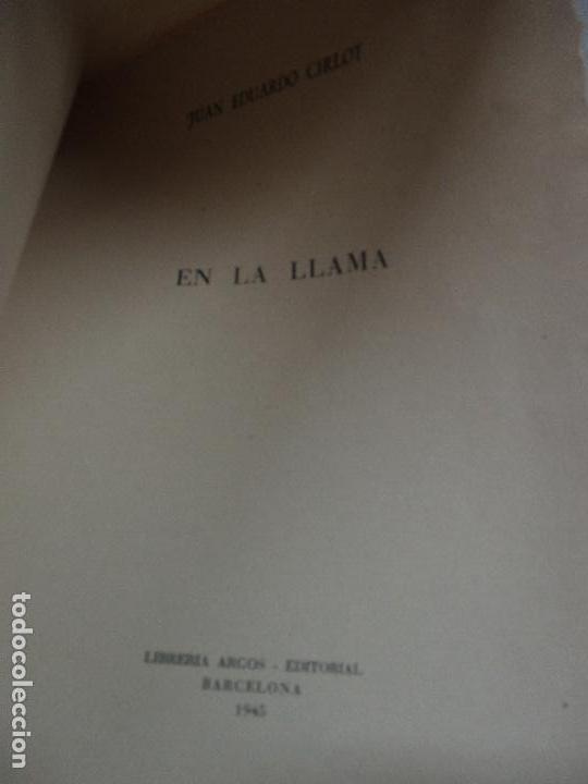 Libros: EN LA LLAMA. - CIRLOT, Juan Eduardo. - Foto 2 - 118146403