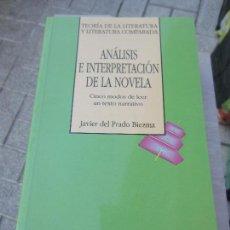 Libros: ANALISIS E INTERPRETACION DE LA NOVELA JAVIER DEL PRADO. Lote 118436155