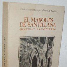 Libros: EL MARQUÉS DE SANTILLANA (BIOGRAFÍA Y DOCUMENTACIÓN) - ROGELIO PÉREZ BUSTAMANTE (ESTUDIO HISTÓRICO),. Lote 118769758