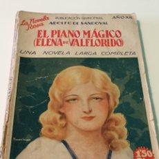 Libros: EL PIANO MÁGICO - ELENA DE VALFLORIDO - ADOLFO DE SANDOVAL - LA NOVELA ROSA - EDITORIAL JUVENTUD. Lote 118921612