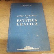 Libros: CURSO ELEMENTAL DE ESTÁTICA GRÁFICA PANSERI EDITORIAL CONSTRUCCIONES SUDAMERICANAS. Lote 121122018
