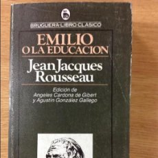 Libros: EMILIO OLA EDUCACIÓN - JEAN JACQUES ROUSSEAU. Lote 292532413