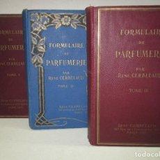 Libros: FORMULAIRE DE PARFUMERIE. - CERBELAUD, RENÉ.. Lote 121972819