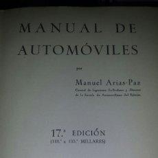 Libros: MANUAL DEL AUTOMOVIL. Lote 122436068