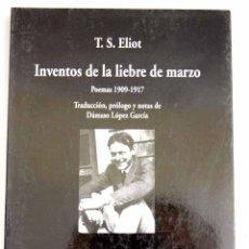 Libros: INVENTOS DE LA LIEBRE DE MARZO. Lote 122631835