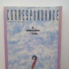 Libros: CORRESPONDANCE, N°3 - EL SIMBOLISMO BELGA (OCTUBRE 1993). Lote 123114139