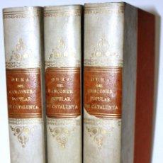 Libros: OBRA DEL CANÇONER POPULAR DE CATALUNYA. MATERIALS.. Lote 123148675