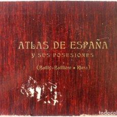Libros: ATLAS DE ESPAÑA Y SUS POSESIONES. COLECCIÓN DE CINCUENTA Y CUATRO MAPAS GEOGRÁFICOS CON SUS DESCRIPC. Lote 123160426