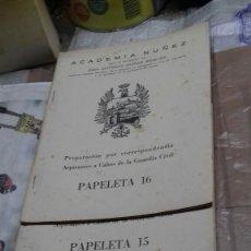 Libros: PREPARACION POR CORRESPONDENCIA ASPIRANTES A CABOS DE LA GUARDIA CIVIL.. Lote 124216288