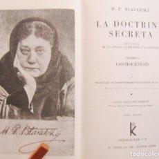 Libros: LA DOCTRINA SECRETA. Lote 124302308