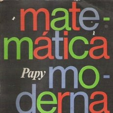 Libros: MATEMÁTICA MODERNA. Lote 124337203