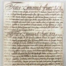 Libros: [ADMISIÓN DE JOSÉ BURGUÉS ÇAFORTESA.] - [MANUSCRITO. ORDEN DE SAN JUAN DE JERUSALÉN.]. Lote 123267218