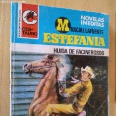 Libros: **NOVELA DEL OESTE, --- HUIDA DE FACINEROSOS (ESTEFANÍA) --- 30 PTAS AÑOS 70**. Lote 124526146