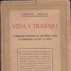 Libros: VIDA Y TRABAJO O CARACTERES PECULIARES DE LOS HOMBRES SEGÚN SU LABORIOSIDAD, CULTURA Y SU GENIO - SM. Lote 125003711