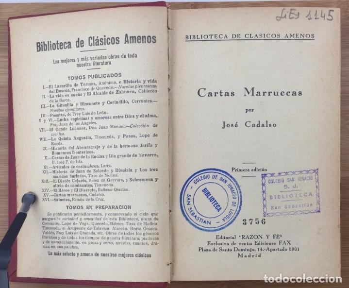 Libros: Cartas marruecas - José Cadalso - Foto 2 - 121765731