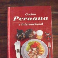 Libros: COCINA PERUANA E INTERNACIONAL, ENCAS. Lote 126469727
