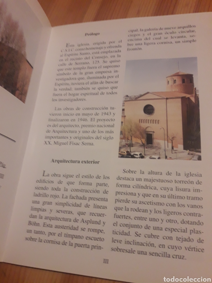 Libros: Librillo iglesia del espiritu santo csic consejo superior investigaciones cientificas - Foto 2 - 127263780