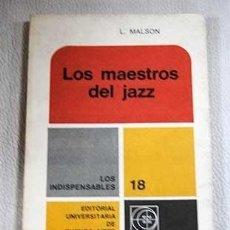 Libros: LOS MAESTROS DEL JAZZ. Lote 128591646