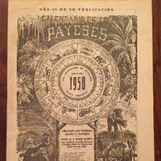 Libros: ANTIGUO CALENDARIO DE LOS PAYESES AÑO 1950 . Lote 128873815