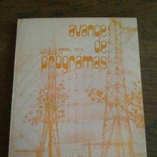 Libros: RTVE AVANCE DE PROGRAMAS, ABRIL DE 1978. Lote 129167683
