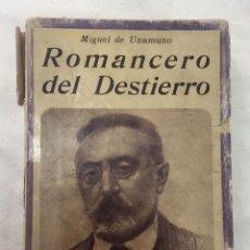 Libros: ROMANCERO DEL DESTIERRO. Lote 127400548