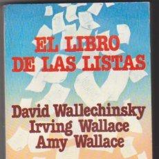 Libros: EL LIBRO DE LAS LISTAS. 1ª EDICIÓN GRIJALBO 1984. SIN USAR 19X12. TAPAS BLANDAS, 336 PÁGS.. Lote 129223654