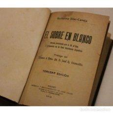 Libros: ANTIGUO LIBRO EL SOBRE EN BLANCO. Lote 130125855