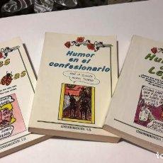 Libros: CHISTES Y HUMOR - LOTE DE 3 LIBROS - 1989. Lote 130615078