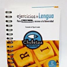 Libros: LIBRO EJERCICIOS DE LENGUA PARA BACHILLERATO Y ACCESO A LA UNIVERSIDAD. Lote 130802744