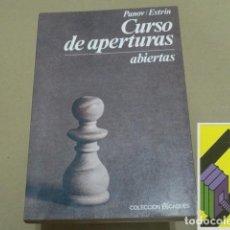 Libros: PANOV, VASILI N./ ESTRIN, YAKOV B.:CURSO DE APERTURAS ABIERTAS (TRAD:AGUSTÍN PUIG). Lote 131288139