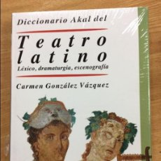 Libros: TAATRO LATINO LEXICO DRAMATURGIA ESCENOGRAFIA AKAL. Lote 131369446
