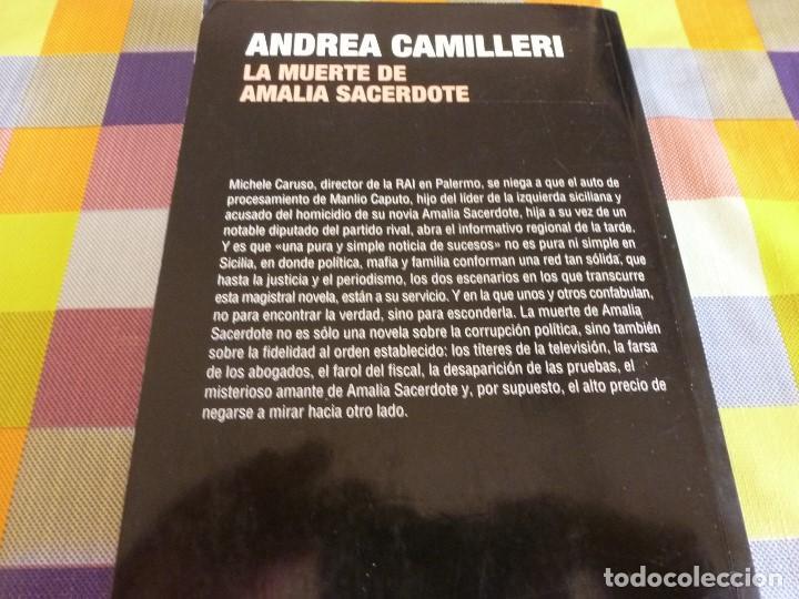 Libros: LIBRO- LA MUERTE DE AMALIA SACERDOTE (ANDREA CAMILLERI) - Foto 2 - 131634542