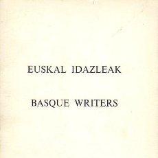 Libros: EUSKAL IDAZLEAK. - NO CONSTA AUTOR. Lote 131776403