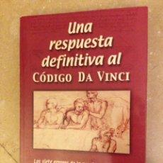Libros: UNA RESPUESTA DEFINITIVA AL CÓDIGO DA VINCI (BEN WITHERINGTON III). Lote 132923481
