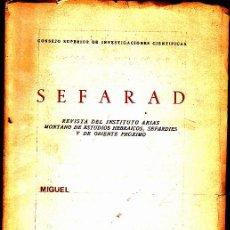 Libros: SEFARAD. - REVISTA.. Lote 133566897