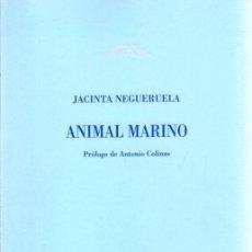 Libros: ANIMAL MARINO - NEGUERUELA CEBALLOS, JACINTA. Lote 133885375