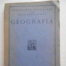 Libros: MARTÍ ALPERA, FÉLIX.//GEOGRAFÍA.. Lote 134476170