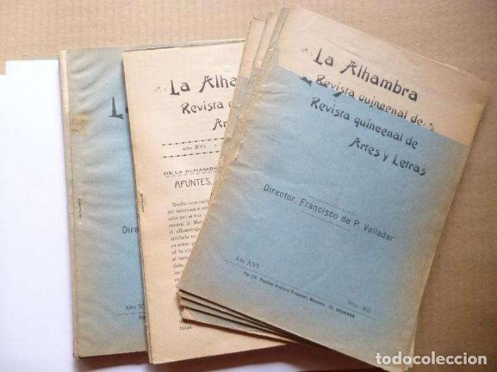 VALLADAR (FRANCISCO DE PAULA).//DE LA ALHAMBRA. APUNTES, NOTAS, INVESTIGACIONES. UN ARTÍCULO DE 43 P (Libros sin clasificar)