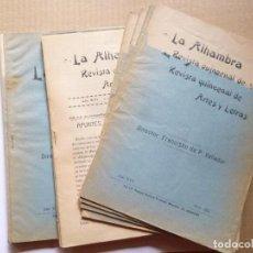 Libros: VALLADAR (FRANCISCO DE PAULA).//DE LA ALHAMBRA. APUNTES, NOTAS, INVESTIGACIONES. UN ARTÍCULO DE 43 P. Lote 134516083