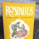 Libros: RONDALLES GIRONINES I VALENCIANAS. Lote 135037506