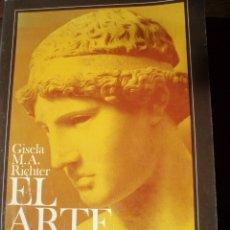 Libros: RICHTER, GISELA M. A.//EL ARTE GRIEGO. UNA REVISIÓN DE LAS ARTES VISUALES DE LA ANTIGUA GRECIA. Lote 135077066
