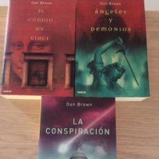 Libros: DAN BROWN - 3 LIBROS. Lote 135647827