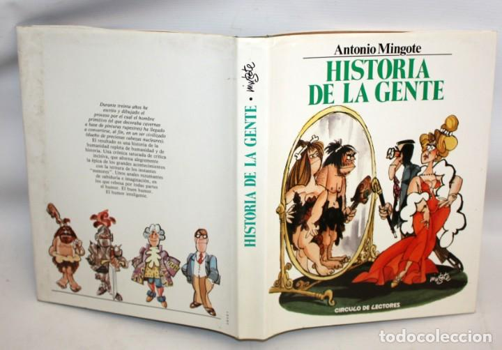 Libros: HISTORIA DE LA GENTE-ANTONIO MINGOTE-1984. - Foto 2 - 136164034