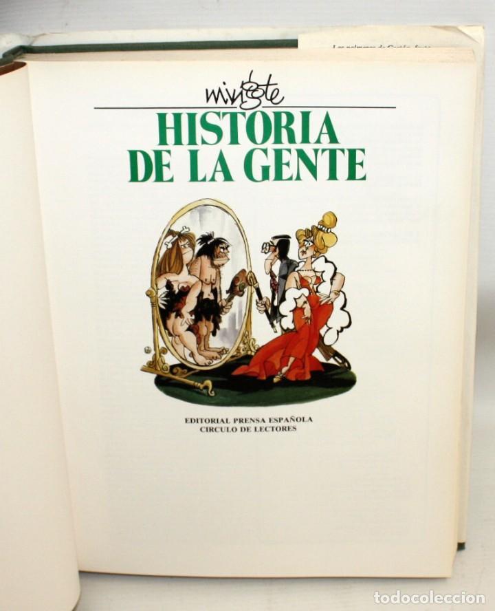 Libros: HISTORIA DE LA GENTE-ANTONIO MINGOTE-1984. - Foto 3 - 136164034