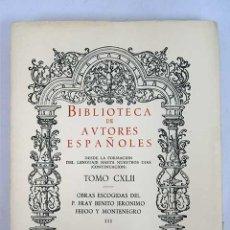 Libros: OBRAS ESCOGIDAS DEL PADRE FRAY BENITO JERÓNIMO FEIJOO Y MONTENEGRO, TOMO III. Lote 136528602